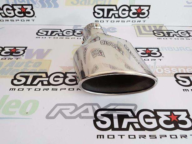 Ponteira de Escape Inox Oval Cupra XXL IEPower Leon FR Ibiza 1.8T A3