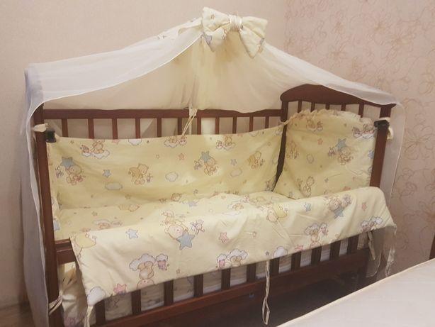 Детская кровать, матрас, постель, держатель