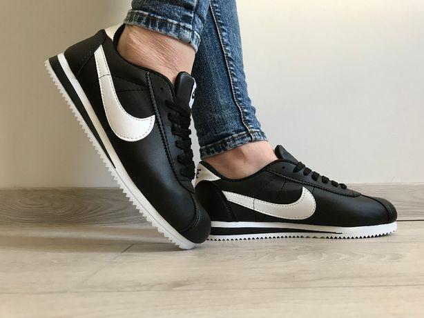 Nike Cortez. Rozmiar 36,37,38,39,40,41. Kolor czarno- biały.