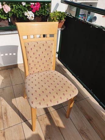 Krzesło krzesła drewniane bukowe lity buk tapicerowane