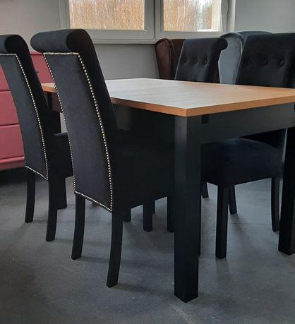 Zestaw 4 krzeseł tapicerowanych + stól 80x140 OD RĘKI!!