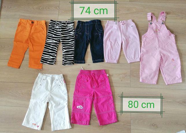 Spodnie/getry/krótkie spodenki dziewczęce 14 szt. Rozm. 74-80