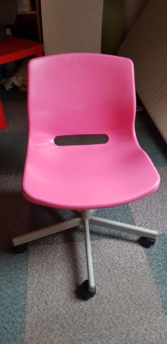Krzesło biurowe dziecęce różowe z Ikei nr 15346 Warszawa - image 1