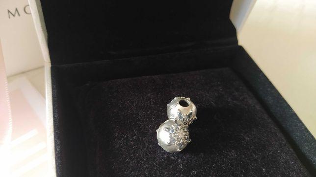 Conta Pandora Clip Floco de Neve Cristalizado