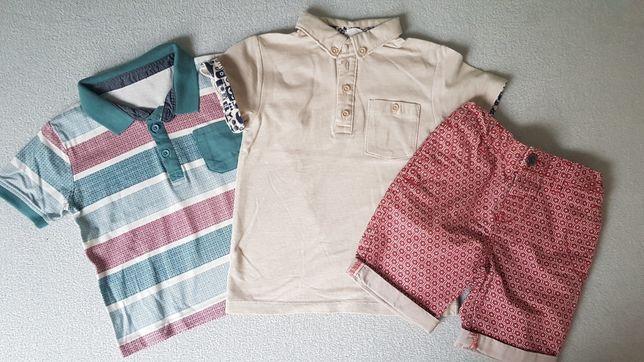 Zestaw Next H&M 98 polo koszulka krótkie spodenki