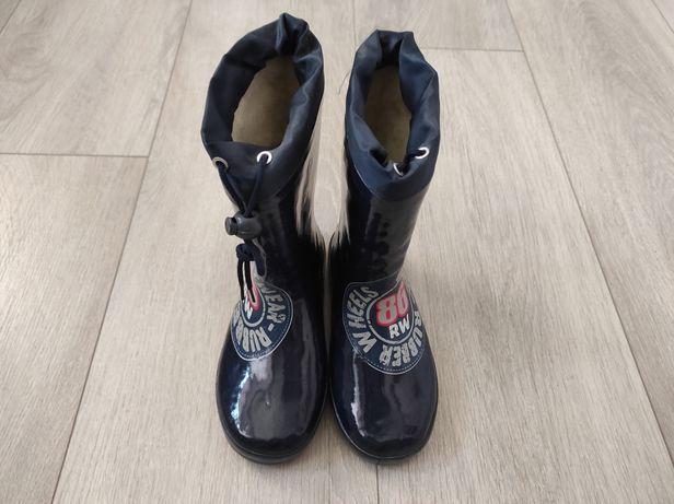 Резиновые ботинки Flamingo на меху, 32р.