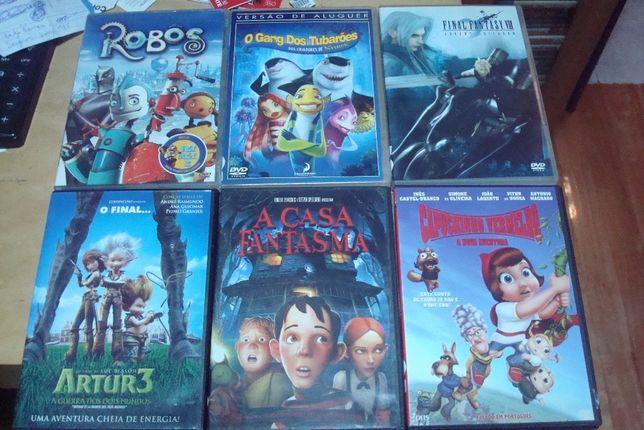 lote 21 dvds originais desenhos animados