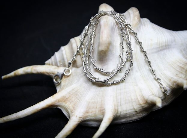 Łańcuszek srebrny oplatany, próba 925, długość 45cm