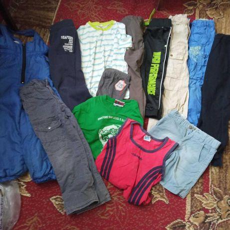 Пакет вещей 116-122 футболки шорты спортивные штаны реглан брюки