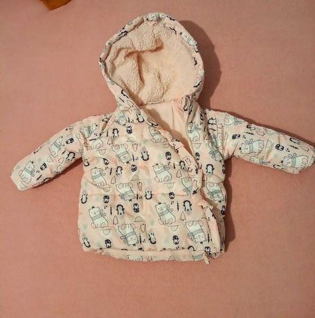 Kombinezon zimowy i kurtka dla dziewczynki rozmiar 68/80