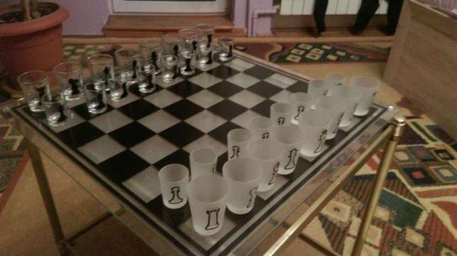 unikatowe Szachy szachownica warcaby kieliszki szklane