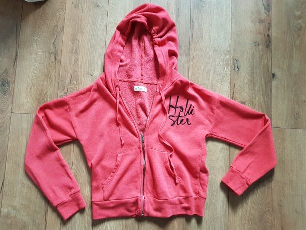 Czerwona bluza Hollister rozmiar XS