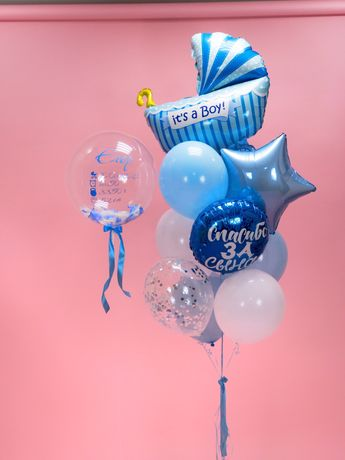 Гелиевые шарики шары на выписку из роддома