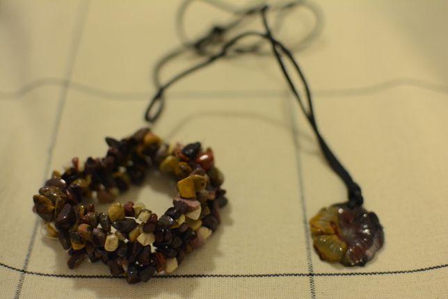 Zestaw biżuterii w stylu boho (bransoleta i naszyjnik)