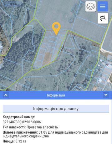 Земельный участок 0.12 га с.Рославичи Киевская обл.