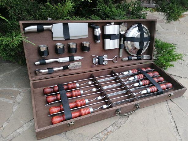 Подарочный набор шампуров для барбекю и шашлыка Red-2