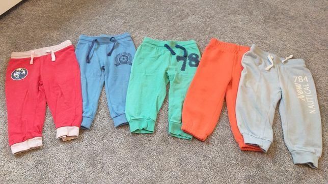 Spodnie, spodenki dresy r 86