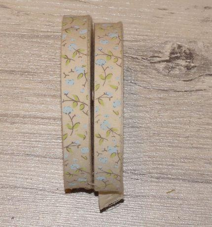 Tasiemka bawełniana dekoracyjna handmade florystyka