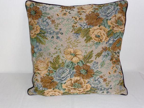 Almofada bordada tapeçaria, nova