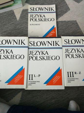 Słownik języka polskiego 3 tomy suplement pwn