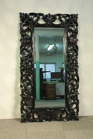 Lustro w czarnej ramie- 169 x 90 Glamour- Tafla ze Szlifem- Promocja !