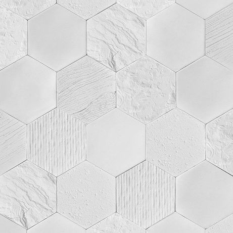 Płytka dekoracyjna hexagon, gipsowa