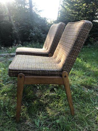 Krzesło tapicerowane (fotelik) Kudowa III Cepelia vintage prl