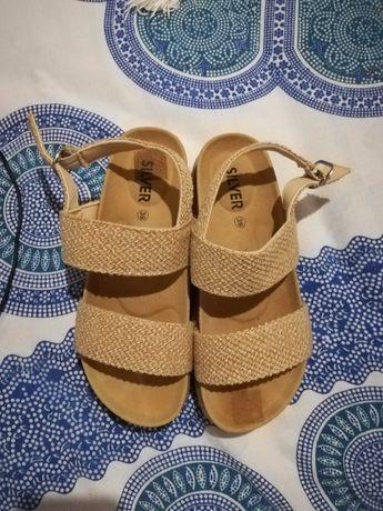 Sandálias com plataforma, 39