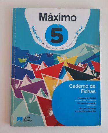 Matemática 5ºano - Caderno de Fichas /MÁXIMO do Aluno da Porto Editora
