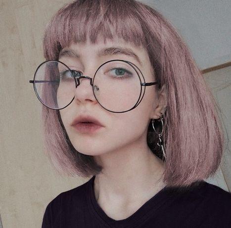 Очки для имиджа, круглые