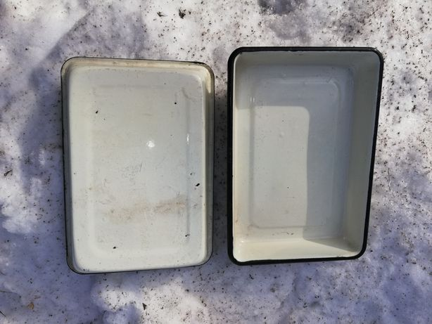 Противень алюминиевый,и эмалированый деко 23 х 28 х5 см