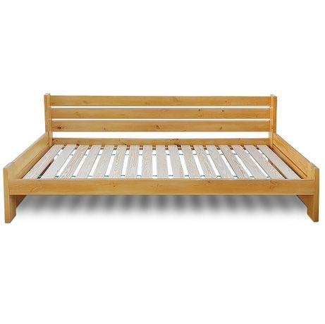 łóżko sosnowe z bardzo wysokim oparciem VASTO 180x200 MEGA MOCNE