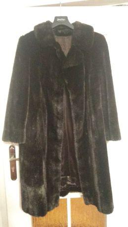 Nowe futro damskie - ciemny brąz