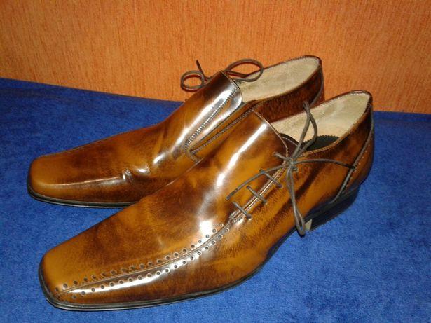 Брендовые кожаные туфли Jeff Banks. Оригинал. Размер 45.