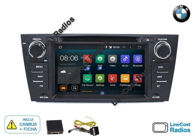 NOVO: Rádio GPS ANDROID 10 BMW E90, E91, E92 e E93 • Mãos livres • USB