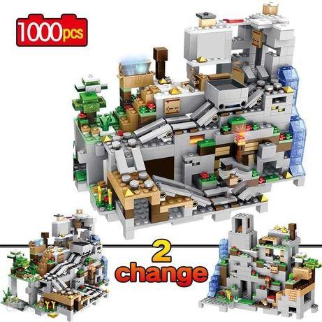 Minecraft Jaskinia górska z windą klocki kompatybilne z Lego
