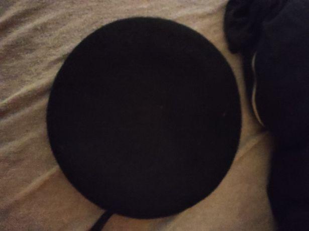 Francuski czarny beret rozmiar 61