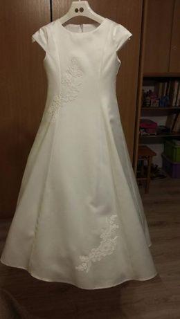 sukienka komunijna + bolerko i dodatki r.134