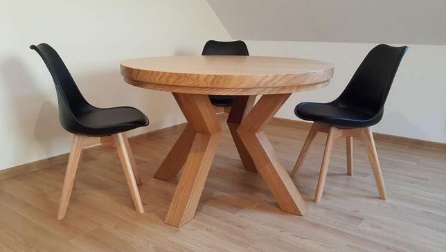 Nowoczesny stół dębowy okrągły rozkładany PROMOCJA