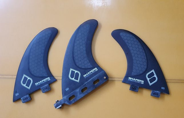 Quilhas longboard shapers 2+1  5.25'' S9 Carbon