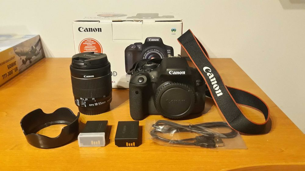 Canon 750D + obiektyw 18-55mm Koło - image 1