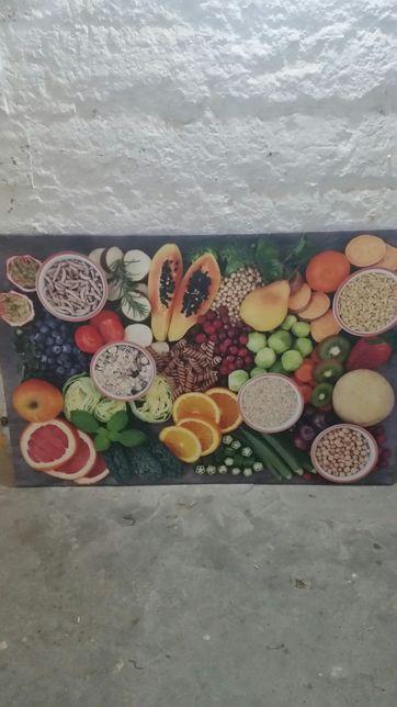 Obraz na płótnie owoce i warzywa kuchnia NOWY okazja tanio