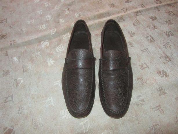 Santoni оригинал Италия кожаные туфли р. 8.5