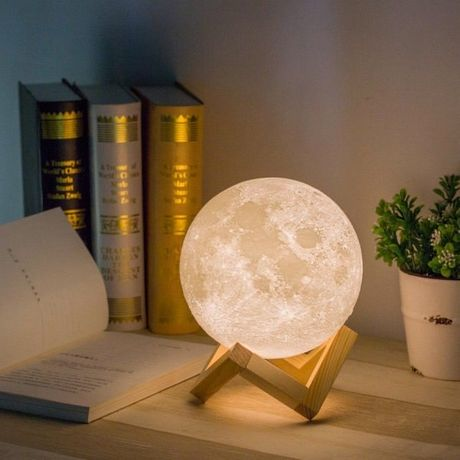 Ночник в виде Луны 3D Moon Light сенсорный диаметр 15 см