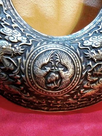 """Китайское серебряное ожерелье """"Дракон и феникс"""" эпохи Hina"""
