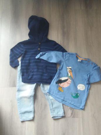 Zestaw ubrań H&M rozm. 80 jeansy sweterek bluzka