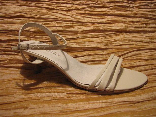 obuwie ślubne wizytowe sandałki białe ekri czarne 35, 36, 37, 38, 39,