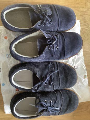 Sapatos em camurça azuis