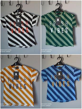 Koszulki t-shirt paski 92,98,104,110,116,122,128,134