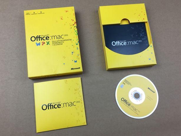 Microsoft Office 2011 BOX dla 3 komputerów Mac! Wieczysta licencja!